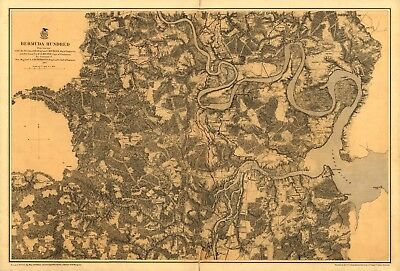 A4 Reprint of American Cities Towns States Map Bermuda Hundred