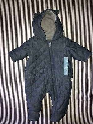 baby gap 0-3 months Fall Winter Spring Bundle Suit chambray unisex NWT