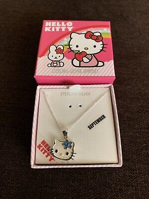 New Hello Kitty September Sterling Silver Necklace