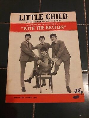 "BEATLES  ""LITTLE CHILD "" sheet music"