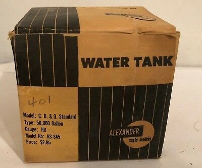 Vintage ALEXANDER Scale Models HO WATER TANK RS-345 in Original box with Papers