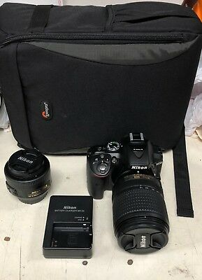 Nikon D5300 24.2MP Digital SLR Camera (w/ AF-S DX VR 18-140mm and 35 DX mm DLens