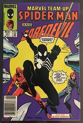 Marvel Team-Up #141! 1St App Of Spider-Man's Black Costume! Ties With Asm 252!