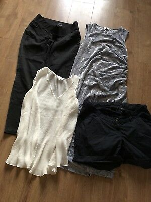Ladies Next Maternity Bundle Size 14 Christmas Party Dress Jeggings Shorts & Top