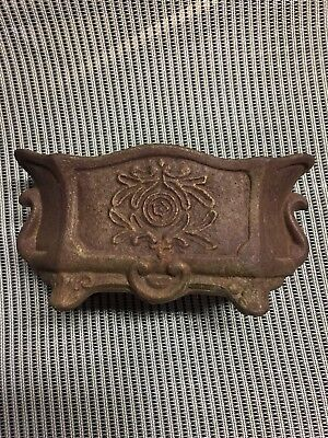 Antique Vtg STYLE Cast Iron Small Planter French Bow Urn 8 1.4 X 3.5
