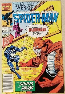 1986 Marvel Web Of Spider-Man #19 ~ First Appearance Humbug & Solo