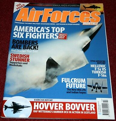 Air Forces Monthly 2009 October SAAB MF1-15 Mushshak,Mig-29,Italy,Harrier