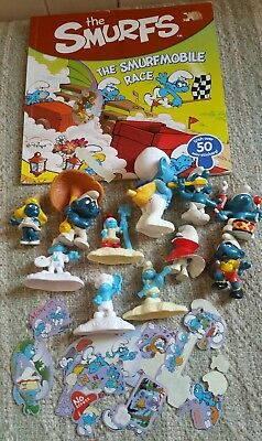 Old Smurfs figurines + Book With Stickers.