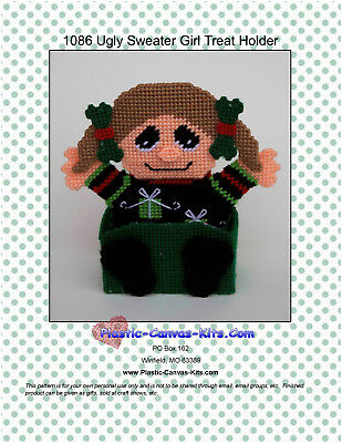 Ugly Sweater Christmas Ornaments-Plastic Canvas Pattern or Kit