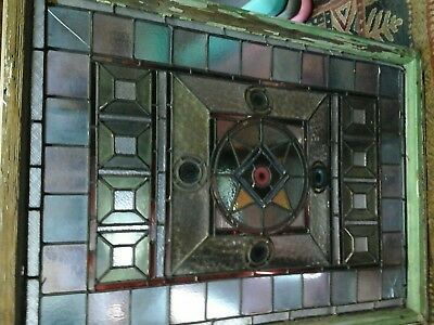 Antique stained glass panel -window
