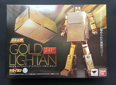 Bandai Soul of Chogokin GX-32 G24 Gold Lightan 24K Gold Plating MISB