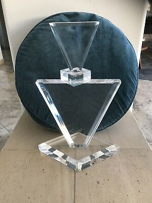 Art deco lucite/ Acrylic Sculpture By Haziza