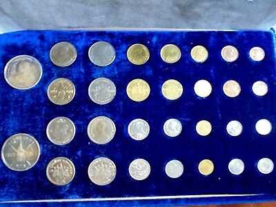 1963 Royal Thai Mint 30 Coin Set - King's 36th Birthday Great Set with Case