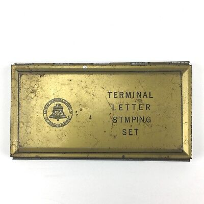 Vintage Terminal Letter Stamping Set American Telephone & Telegraph Bell System