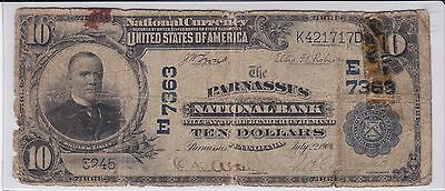 1902 $10 Parnassus, Pennsylvania Ch# 7363 (there are only 3 large notes known)