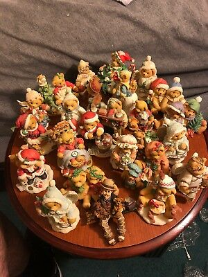 Cherished Teddies Lot Of 26 Christmas Figures (No Boxes) GREAT CONDITION