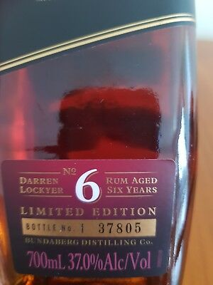 Darren Locker Limited Edition Bundaberg 700ml