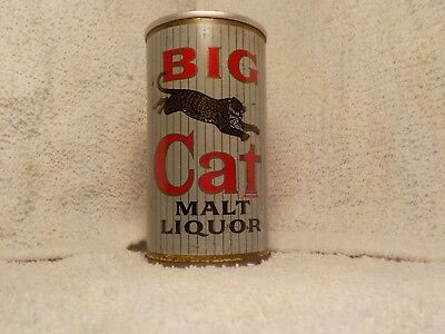 Big Cat Pabst Peoria Heights Ill Leopard Old Beer Can