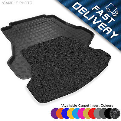 Boot Liner Mat Tray with  Velour Insert version with one floor in the boot