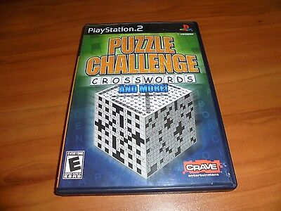 Puzzle Challenge: Crosswords and More (Sony PlayStation 2) Used Complete PS2