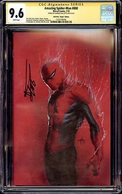 Spiderman 800 Dell'otto 1:200 Virgin Variant Cgc Ss 9.6 Signed Gabriele Dellotto