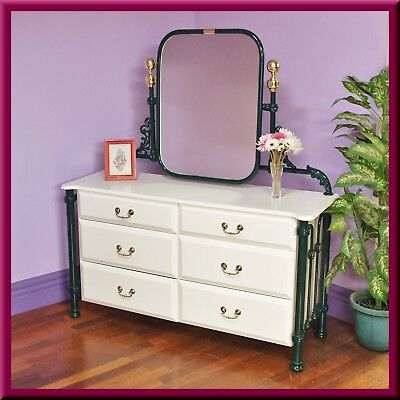 Antique style Bedroom Dresser ◆Dressing Table ◆Chest of Drawers ◆ Mirror