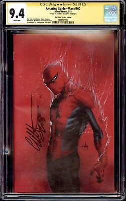 Spiderman 800 Dell'otto 1:200 Virgin Variant Cgc Ss 9.4 Signed Gabriele Dellotto