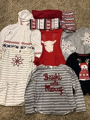 Gymboree Girls Holiday Winter Clothes Lot Sizes 7 & 7/8