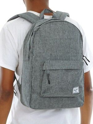 c2cab9b9aef The Herschel Supply Co. Classic 600D 10500-00919 Raven Crosshatch Backpack