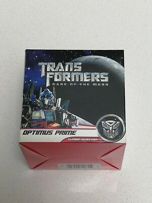 2009 $1 Transformers Optimus Prime 1Oz Silver Proof Coin. By The Perth Mint.