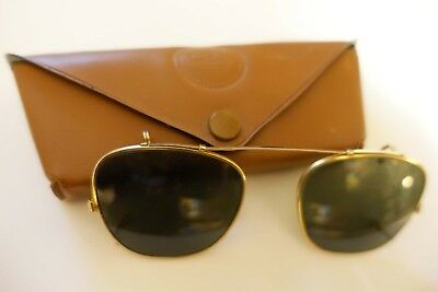 Bausch & Lomb Ray-Ban B&L 44 clip on sunglasses with case