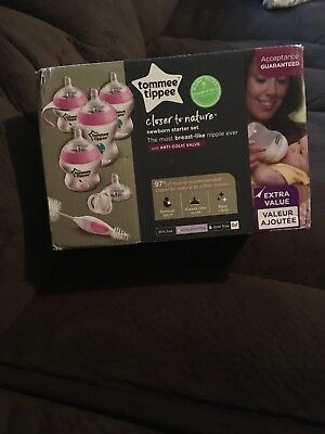 Tommee Tippee Closer to Nature Newborn Starter Set, Pink