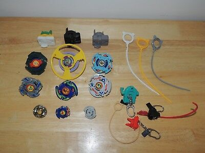Hasbro Takara Plastic Beyblade Parts Launchers Rippers Cords Lot - USA Seller