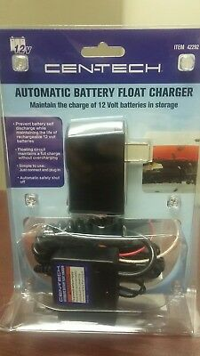 12V Cen-Tech Automatic Battery Float Charger for Car Boat Storage Item 42292 NEW