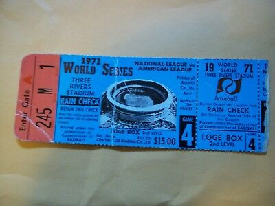 1971 World Series Ticket Game 4-First Ever Night Game