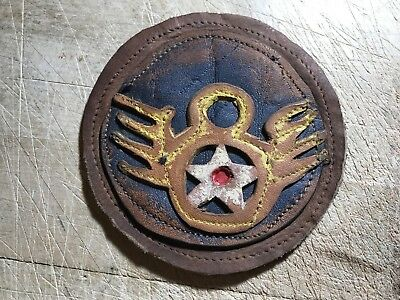 WWII/WW2 US AIR FORCE PATCH 8th Air Force-ORIGINAL LEATHER USAF BEAUTY!