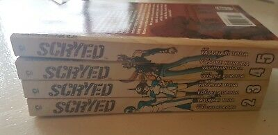 SCYRED manga 2 3 4 5 good condition graphic novel book comic Japan collectables