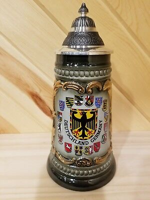 Zoller And Born Beer Stein.  Made In Germany.  Bottom Chip Please See Pics.