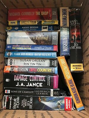 14 audio books on cd, 1st class condition, Patterson, Connelly, JD Robb