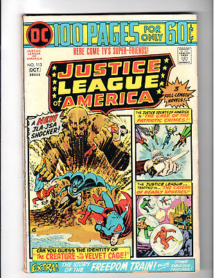Justice League of America #113 5.0 VG/F JLA / JSA - 100 Pages DC Bronze Age 1974