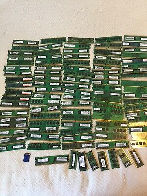 PC Computer Memory lot +80 pieces - approx 3.3 lbs scrap for gold recovery