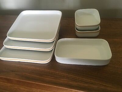 Ansett airlines German bone china pieces - 6 items