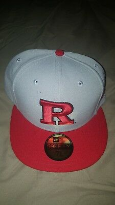 finest selection addf3 505e9 Brand New Rutgers Scarlet Knights NCAA New Era Grey Red College Hat Size 7 1