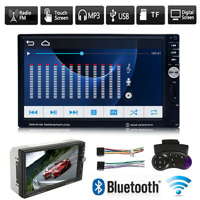 "7"" Double 2DIN Android Touch Screen Bluetooth Car Stereo DVD CD MP5 Player Radio"