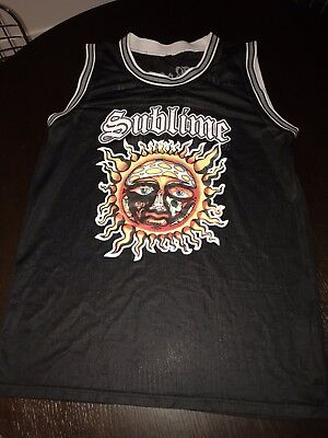 Mens Sublime Concert Jersey Tank Top Long Beach Ca. Rare Black 40 Oz XL Vintage