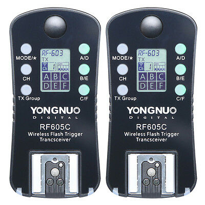 YONGNUO RF605C Wireless Flash Strobe Trigger Slave Unit with LCD for Canon DSLR