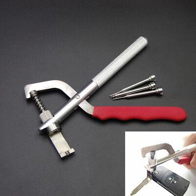 Auto Car Remote Key Blade Pin Disassembling Clamp Pilers Tool Metal+Rubber