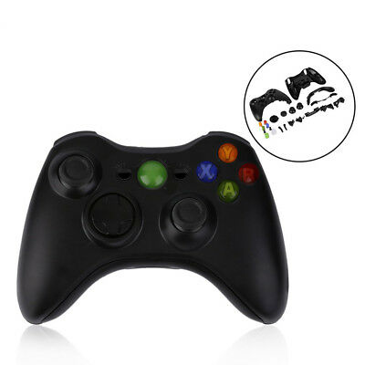 New Black Wireless Handle Gamepad Controller Shell For Micsoft Xbox 360 Wt