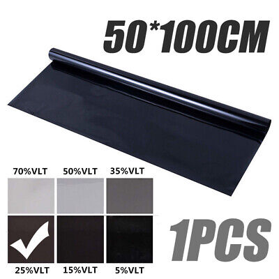 Black Glass Window Tint Shade Film VLT 25% Auto Car House Roll 50cm*1M