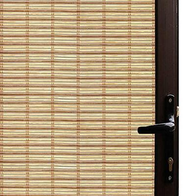 Qualsen Window Film Bamboo Static Decorative Privacy Window Films Non-Adhesive x